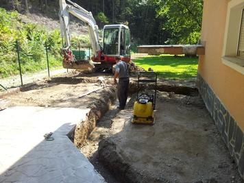 Izkop in priprava za izgradnjo montažnega stopnjišča